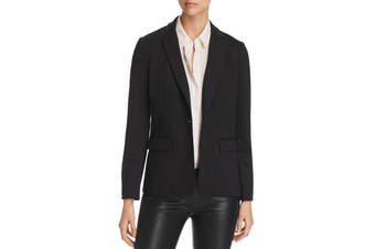 Le Gali Women's Jacket Black Size XL Notched-Collar Studded Flyaway