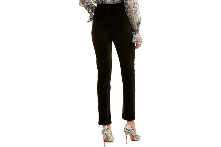 Rebecca Taylor Women Black Size 4 Velveteen Straight Leg Pants