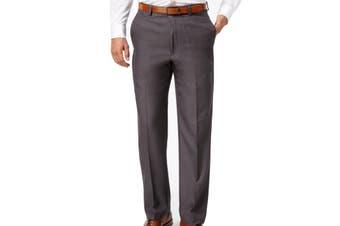 Haggar Mens Pants Gray Size 32X30 Classic Fit Dress - Flat Front