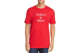 Knowlita Mens T-Shirt Red Size Small S Los Angeles Crew Graphic Tee