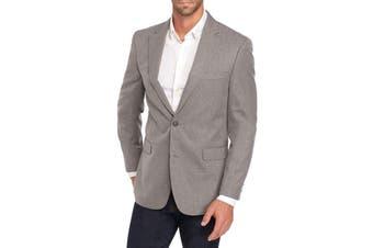 Tommy Hilfiger Mens Blazer Gray Size 40 Regular Ethan Mini Check