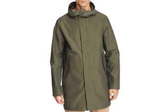 Designer Brand Mens Jacket Green Size Large L Fishtail Parka Hooded