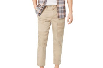 American Rag Mens Pants Beige Size 33 Khakis Chinos Slim Fit Stretch