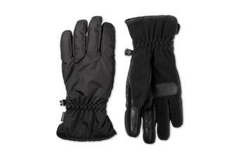 Isotoner Mens Everyday Gloves Black Size Large L Touchscreen Stretch