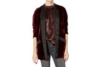 BB Dakota Women's Blazer Bordeaux Red Size Small S Velvet Satin Trim