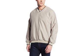 Charles River Apparel Mens Sweater Beige Size 2XL Pullover V-Neck