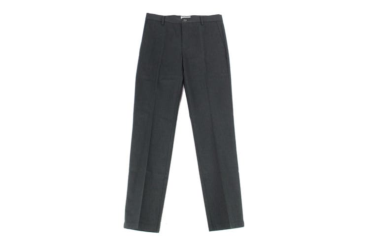 Dockers Mens Pants Black Size 31X32 Slim Tapered Plaid Khakis Stretch