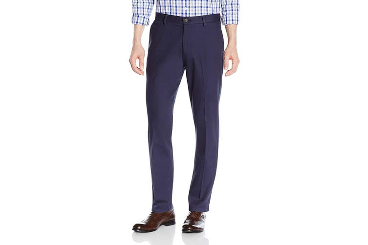 Good Threads Mens Pants Blue Size 33X34 Khakis Chinos Slim-Fit Pockets