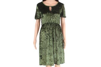 Designer Brand Women's Dress Green Size Medium M A-Line Stretch Keyhole