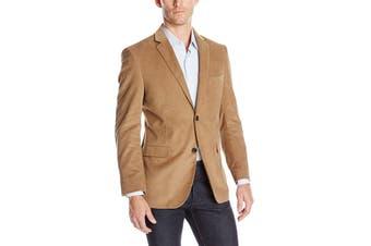 Designer Brand Mens Beige Size 42R Modern Fit Corduroy Sports Coat