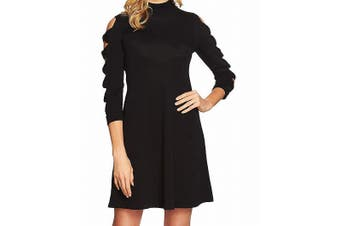 CeCe Women's Sweater Dress Midnight Black Size XS Cutout Sleeves