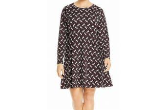 MICHAEL Michael Kors Women's Sweater Dress Purple 1X Plus Crew Neck