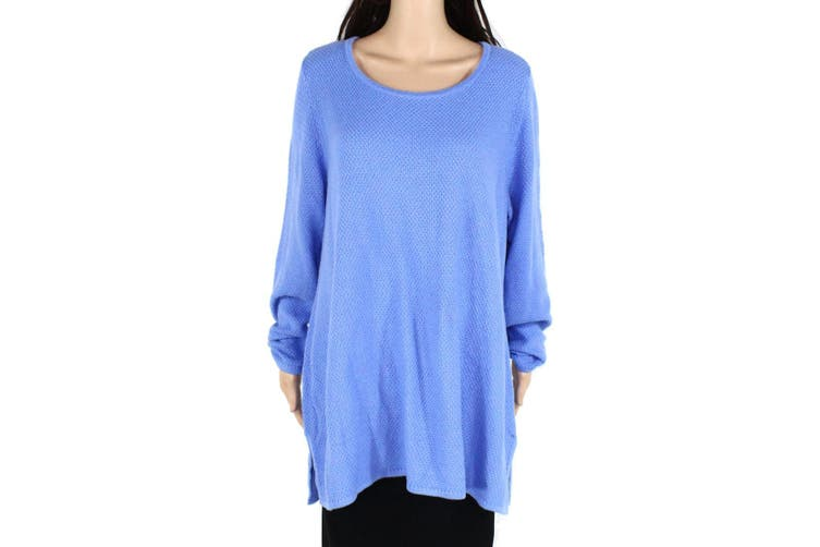 Charter Club Women's Sweater Light Blue Size 2X Plus Scoop-Neck Tunic