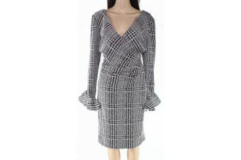 Lauren By Ralph Lauren Women's Dress Black Size 16 Sheath Textured