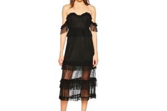 Bardot Women's Dress Black Size 10 Lace Sweetheart Off-Shoulder