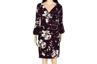 Lauren by Ralph Lauren Women's Dress Purple Size 6P Petite Sheath