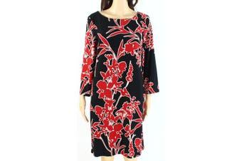Lauren by Ralph Lauren Women's Dress Black Size 6 Shift Floral-Print