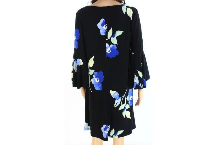 Lauren By Ralph Lauren Women's Dress Black Size 14 Shift Floral