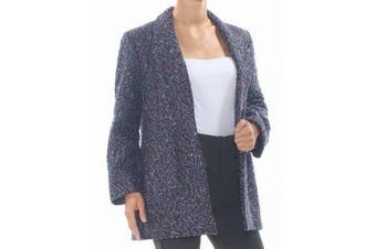 Nine West Women's Blue Size Small S Textured Marled Knit Jacket
