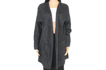 Style & Co. Women's Sweater Gray Size 3X Plus Open Front Cardigan