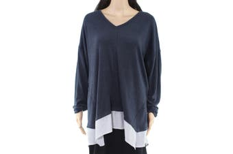 Style & Co Women's Sweater Charcoal Gray Size 1X Plus V-Neck 2Fer
