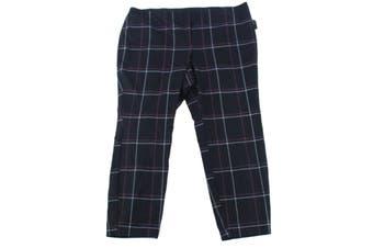 Alfani Women's Pants Black Size 20W Plus Stretch Windowpane Hollywood