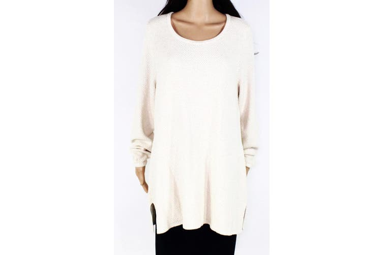 Charter Club Women's Sweater White Ivory Size 3X Plus Pullover Tunic