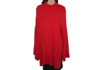 Charter Club Women's Sweater Red Size 2X Plus Tunic High-Neck Ribbed