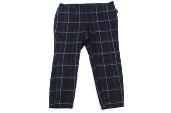 Alfani Women's Pants Black Size 22W Plus Stretch Windowpane Hollywood