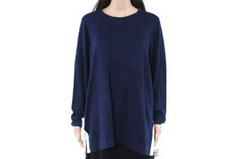 Charter Club Women's Sweater Blue Size 2X Plus Pullover Side-Stripe