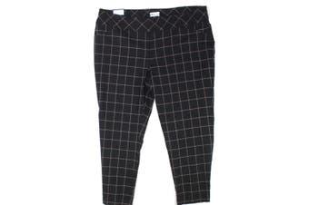 Style & Co. Women Black Size 28W Plus Printed Dress Pants Stretch