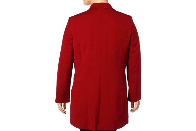 Tahari by ASL Women's Jacket Red Size 2 Notch-Collar Open-Front Topper