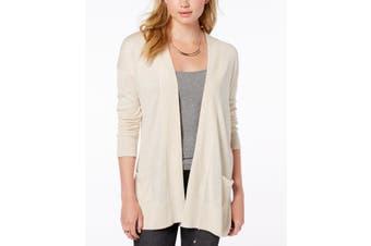 Hippie Rose Women's Sweater Beige Size Large L Open Front Cardigan