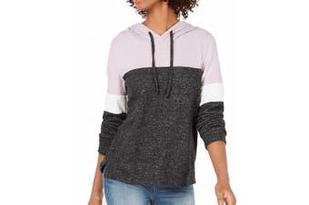 Hippie Rose Junior's Sweater Purple Size Medium M Colorblocked Pullover