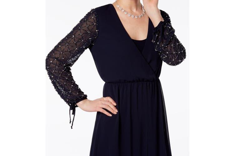 Betsy & Adam Women's Dress Blue Size 10P Petite A-Line Skirted