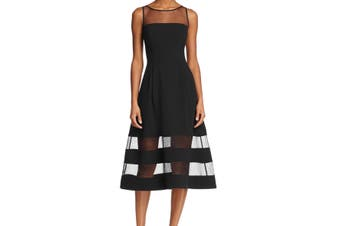 Aidan by Aidan Mattox Women's Dress Midnight Black Size 2 A-Line