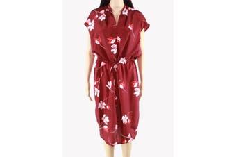 Lauren By Ralph Lauren Women's Dress Red Size 6 Shirt Floral Print