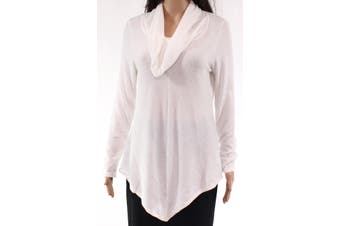 BCX Women's Top Off White Size Medium M Cowl-Neck Knitted Pullover