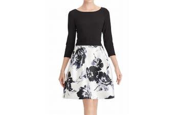 American Living Women's Dress Black Size 18 Plus A-Line Jacquard