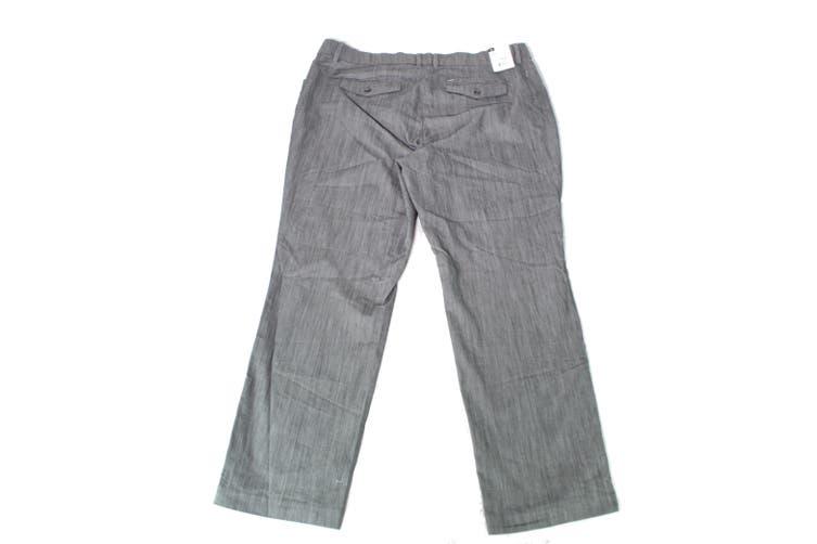 Lee Women's Pants Gray Size 14W Plus Regular Fit Flex Motion Stretch