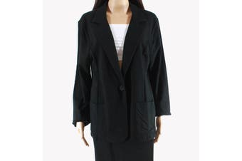 Cable & Gauge Women's Jacket Black Size XL French Terry One Button
