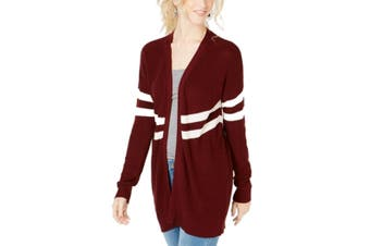 Hippie Rose Sweater Red Size Large L Junior Cardigan Varisty-Stripe