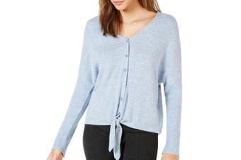 BCX Juniors Sweater Classic Blue Size XS V-Neck Tie Front Dolman Sleeve