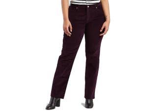 Levi's 414 Women's Purple Size 20W Plus Corduroys Stretch Pants