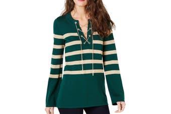 MICHAEL Michael Kors Women's Sweater Green Size XL Chain Tunic