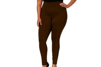Style & Co. Womens Pants Brown Size 24W Plus Leggings Mid Rise Solid