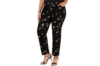 MICHAEL Michael Kors Women's Jeans Black Size 14W Plus Skinny Stretch