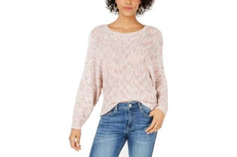 American Rag Women's Sweater Pink Size XXS Knitted Textured Batwing