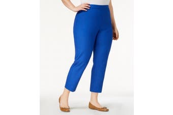 Alfred Dunner Women's Blue Size 24W Plus Pull On Straight Pants Stretch