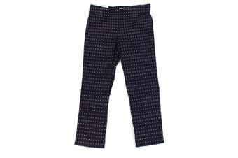 Charter Club Women's Blue Size 14W Plus Straight Leg Pants Stretch